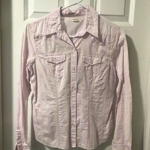 American Eagle purple embroidered shirt
